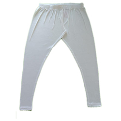 White Plain Cotton Lycra Legging