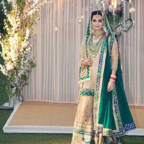 731f55914e Sea Green Bridal Lehenga & Bridal Lehenga Retailer from Hyderabad