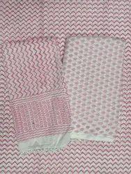 Zig Zag Block Print Cotton Suit Set