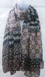Poly Voile Printed Multi Design Scarves