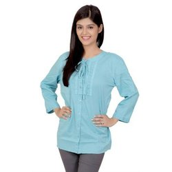Ladies Full Sleeve Cotton Shirt