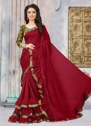 Ruffle Style Casual Sarees Collection