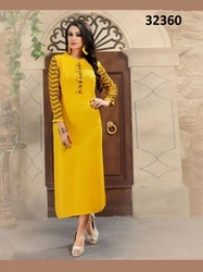 Rayon Cotton Printed Party Wear Kurti