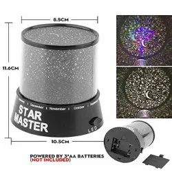 Star Master Projector LED Night Lamp Gizmos Star Projector Sky Lantern with USB Wire Turn Any Room I