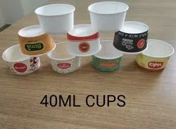Ishwara Printed 40ml Paper Cup, For Event And Party Supplies