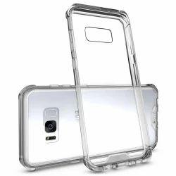 Clear Gel/Plastic/Silicone Transparent Bumper Case Cover, Samsung S8 Plus