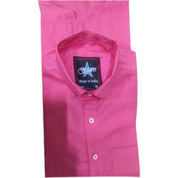 Mens Collar Plain Shirt, Size: S - XXL