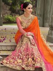 Jacquard Zardozi Work Wedding Saree, With Blouse