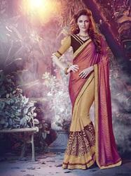 Synthetic Paper Silk Saree