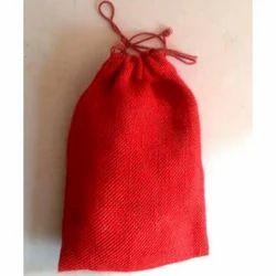 Red Jute String Bag