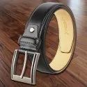Black Profile Leather Belt