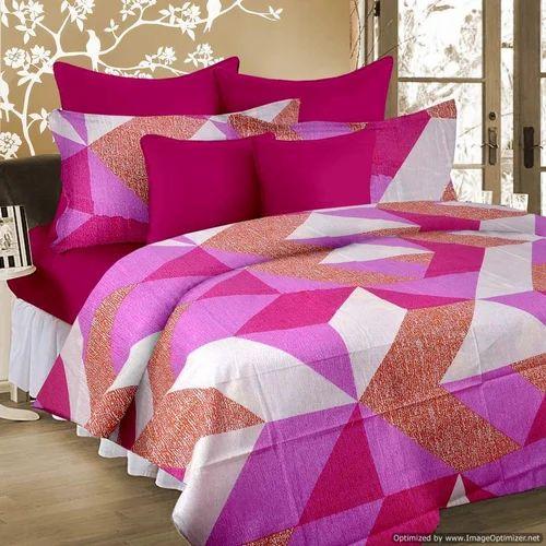 Multi Cotton Designer Bed Sheet