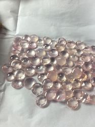 Rose Quartz Round Cut Semi Precious Stone