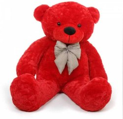 Cotton Red Teddy Bear, 50 Gram To 3 Kg
