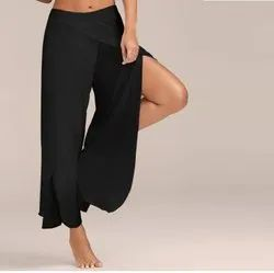 Black Rayon Palazzo Pants For Girls