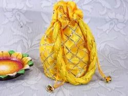 Silky Yellow Gift Pouch