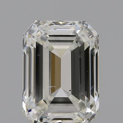 Emerald Cut CVD Diamond 2.02ct H SI1 IGI Certified