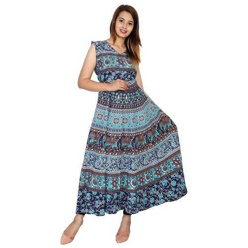 d331be4e751 Rajasthani Printed Rayon Dress
