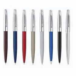 Cap Press Metal Ball Pen