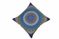 Blue Six Colour Of Mandala Cushion Cover