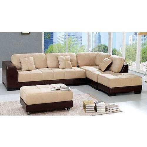 Designer L Shape Fabric Sofa Set, L shape couch, एल शेप सोफा ...