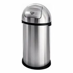Open Top Stainless Steel Swing Dustbin For Household