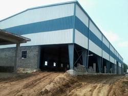 Steel Factory Sheds Fabrication Service