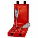 Brass Silver Glass Gift Set
