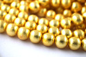 Round Brush Ball Center Drilled Gold Plated Copper Beads