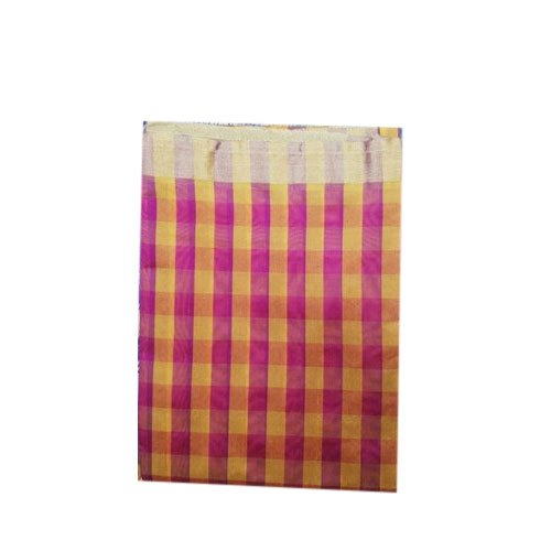 Checked Kota Saree, 6 m (with blouse piece)