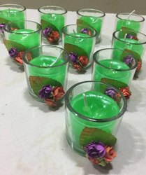 Round Votive Glass Candle