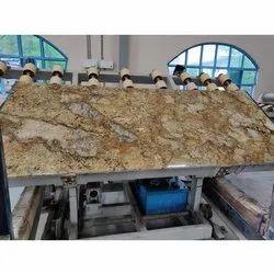 Polished Samdani Granite Gold Alaska Granite Slab, Thickness: 20-25 mm