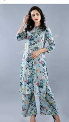 Ladies Floral Kurti Pallazo Set