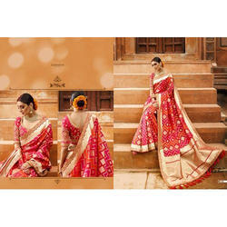 Georgette Wedding Wear Ethnic Traditional Saree, 6.3 m (with blouse piece)