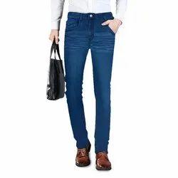 Faded Slim Fit Mens Jeans Fashion Indigo