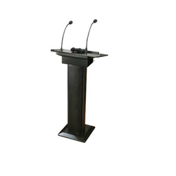 Black Wooden, Metal PA Podium
