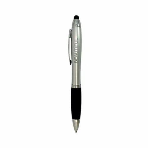 Plastic Pens H 013 2 In 1 Led Light Logo Ball Pen