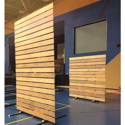 Brown Wooden Office Partition Services