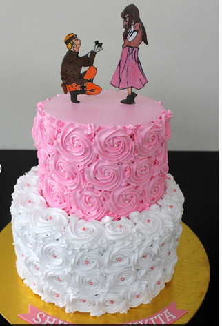 Wedding Engagement Cake Homemade Personalized Handcrafted 3 Layer