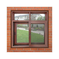 Brown UPVC Combination Window, Thickness Of Glass: 5 to 40mm, for Home, Hotel etc