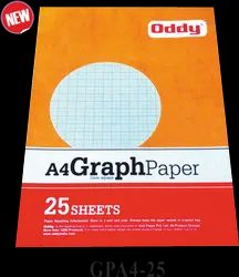 Oddy Graph Paper - (GPA4-25) - A4 (1mm square) - (210mm x 285mm) - 25 Sheets