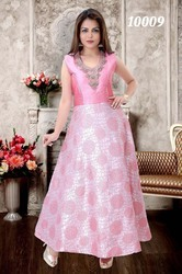 Girls Fashion Pink Gowns, Size: S, M and L