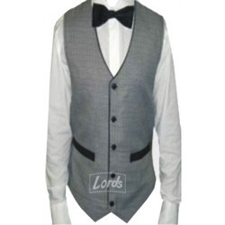 Waist Coat Black With White For Waiter Waitress & Party Wear