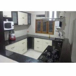 Wooden Island Modular Kitchen, Warranty: 10-15 Years