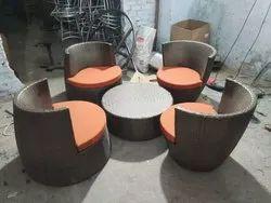 Wicker Outdoor Coffee Furniture Set