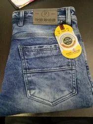 Multicolor Faded Damage Jeans