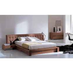 Cream Wooden Bed