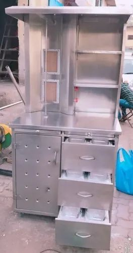 Two Barnar Shawarma Machine With Cabinet