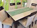 Elephant Green Table Runner Centerpiece