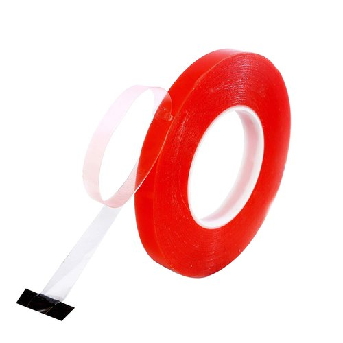 12mm X 50 MTR Double Sided Adhesive Sticky Tissue Tape Finger Tear NEW